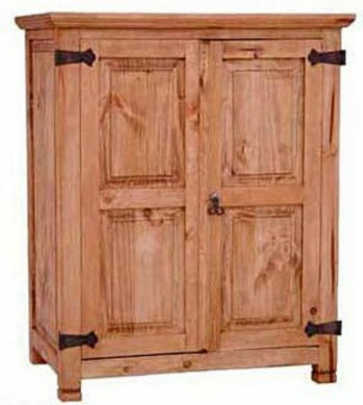 Small rustic door armoire western cabin lodge pantry