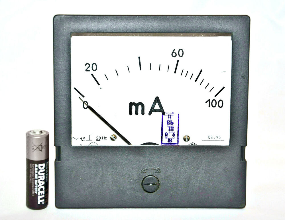 Analog Panel Meter : Ma ampmeter analog current panel meter ammeter