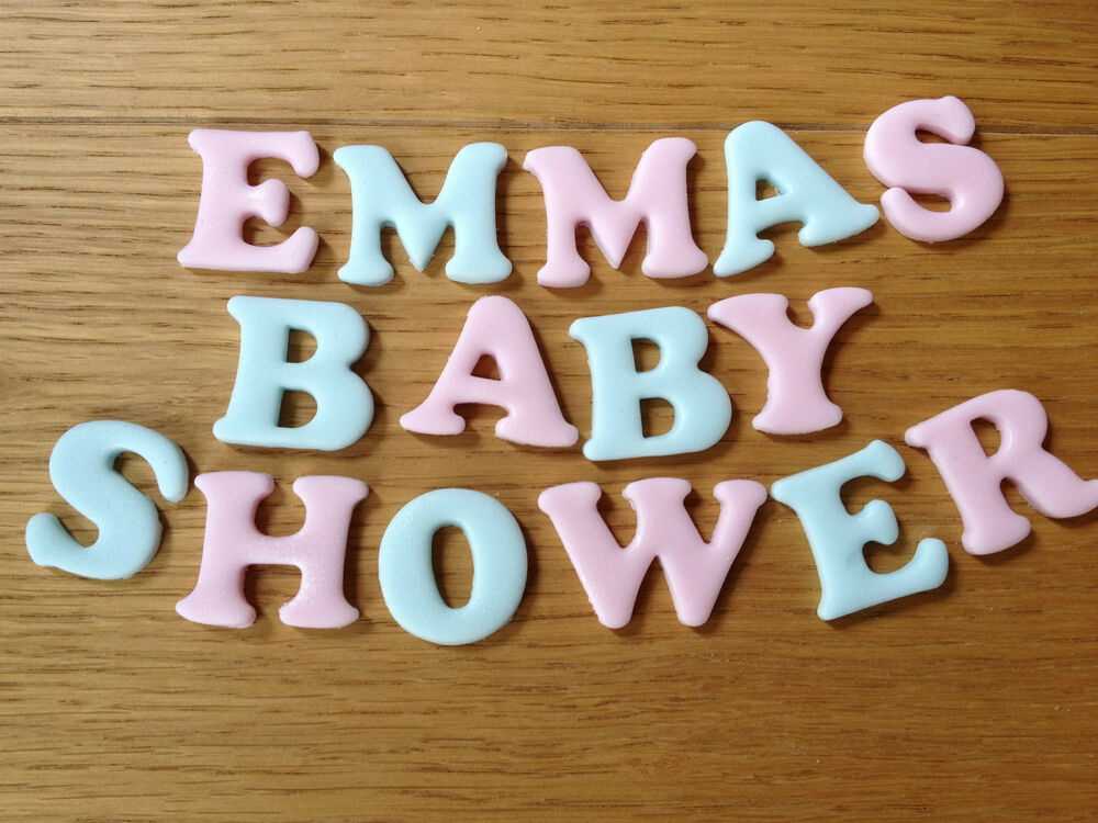 Cake Decorations Letters Uk : Edible letters Cake Topper Baby Shower, Christening ...