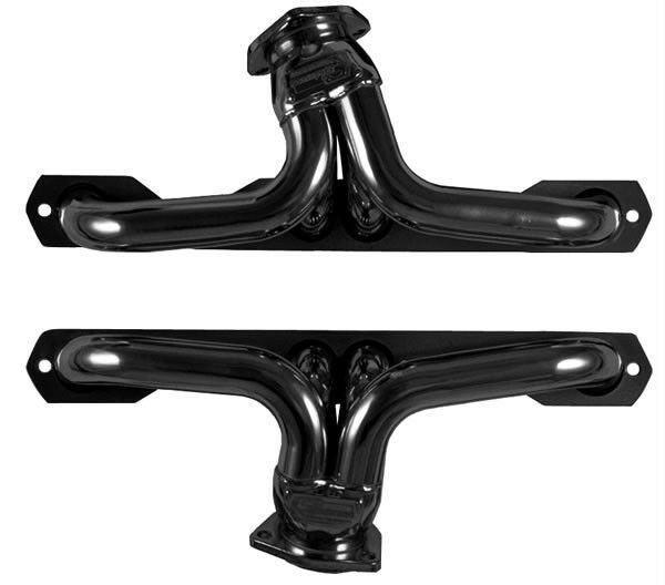 Small Block Chevy Plain Steel Exhaust Headers For D-Port