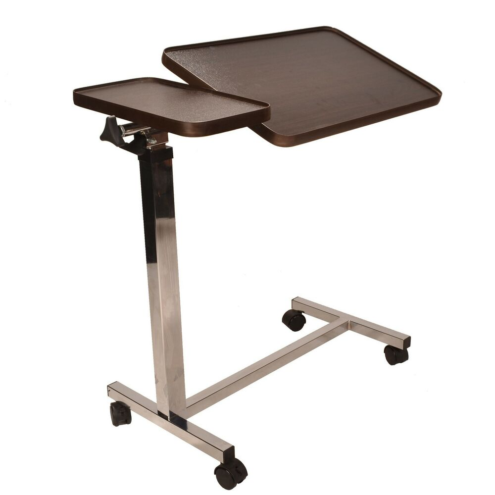Deluxe twin top over bed or chair table adjustable height for Table bed chair