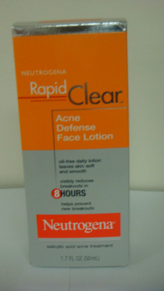 Neutrogena Rapid Clear Acne Defense Face Lotion- 1.7 oz  | eBay