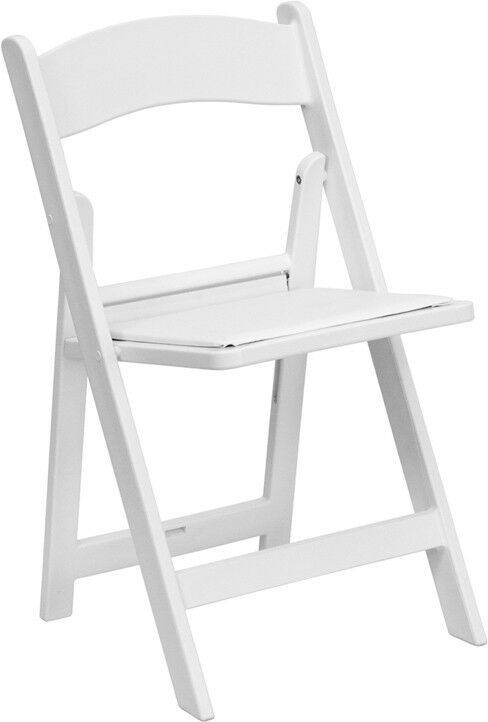 mercial Quality White Color Resin Folding Chairs Wedding Folding Chair