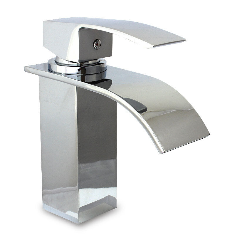 mixer taps for bathroom sink curvare waterfall bathroom basin sink mixer tap great 23788 | s l1000