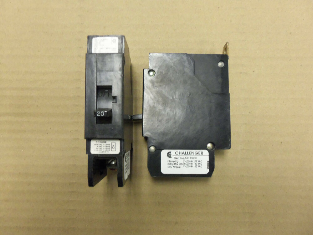 Pole 20 Amp 120 240v Circuit Breaker With Metal Foot Ch120 120 240v