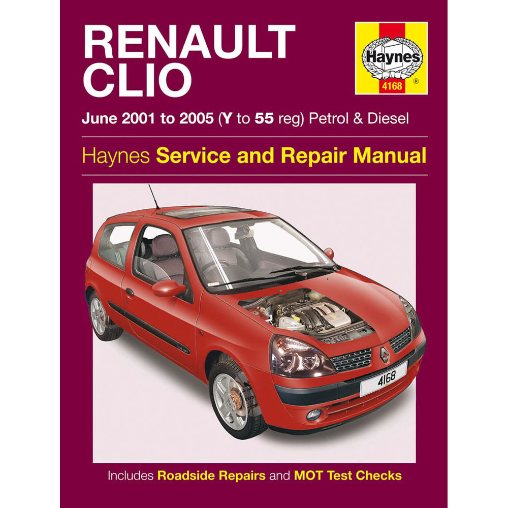 renault clio 1 2 1 4 1 6 petrol 1 5 td 2001 05 y to 55 reg haynes manual ebay. Black Bedroom Furniture Sets. Home Design Ideas