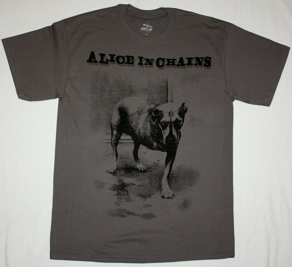 Alice In Chains Dog Grunge Seattle Pearl Jam Soundgarden Hole New Grey T Shirt Ebay