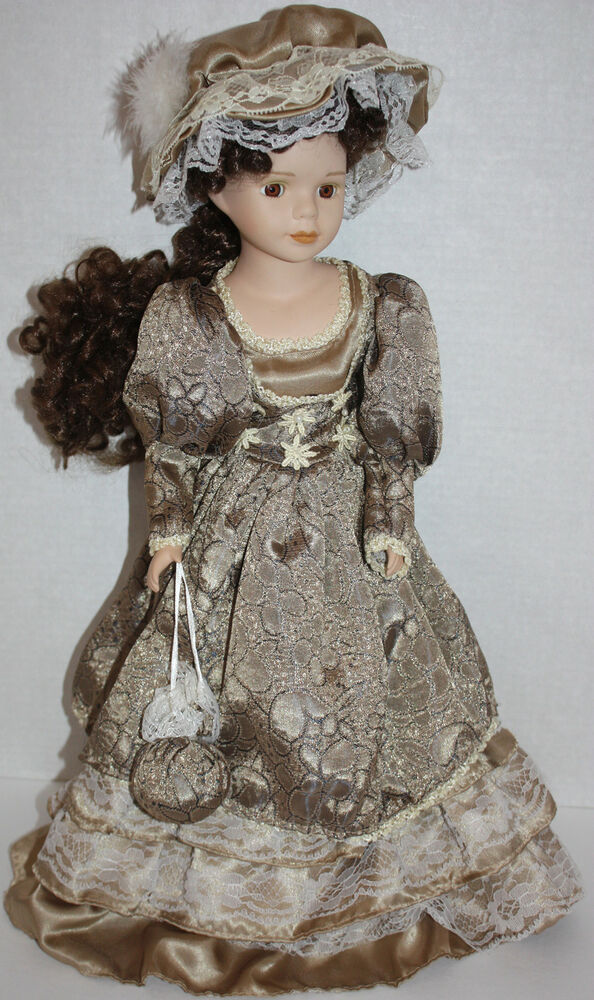 EUC Beautiful Porcelain Collectible Doll - 20"