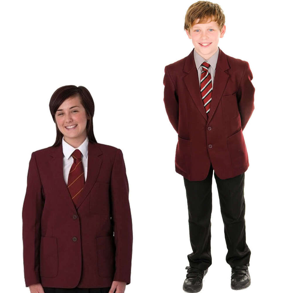 Girls Boys Maroon Burgundy Blazers RRP £39.99 School
