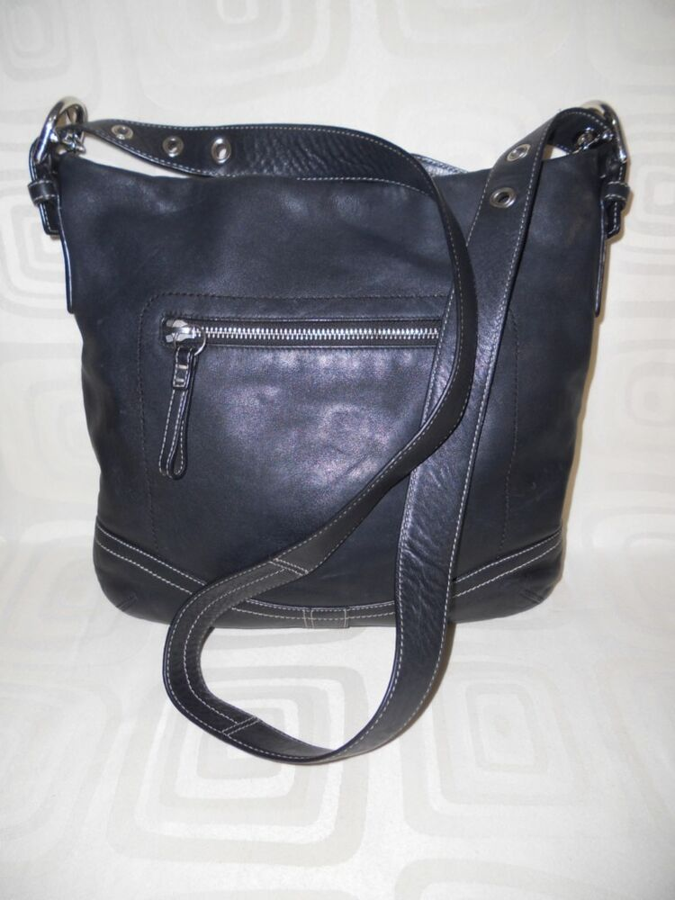 how to clean a black leather coach purse