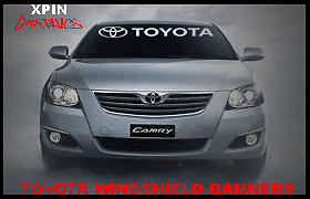 Toyota Windshield Banner Decal Vinyl Sticker Trd Corolla