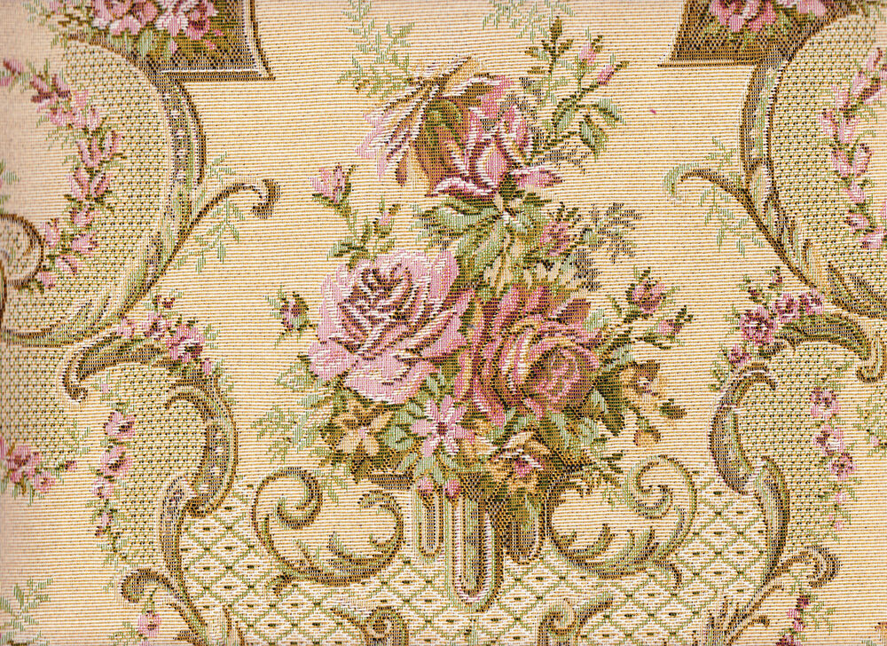 Victorian tapestry 6 yards upholstery fabric heavy floral for Victorian floral fabric