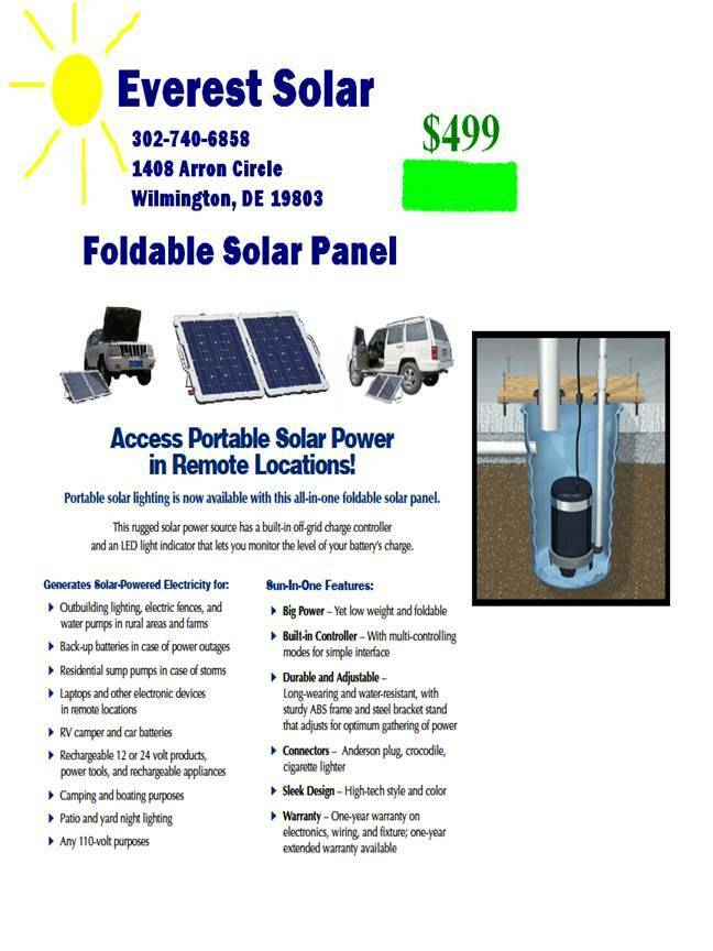 Foldable 100 Watt Solar Panel With Charge Controller For