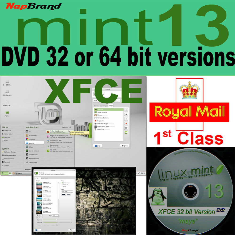 Linux mint 13 xfce 32 or 64 bit lightweight alternative to for Window 32 or 64