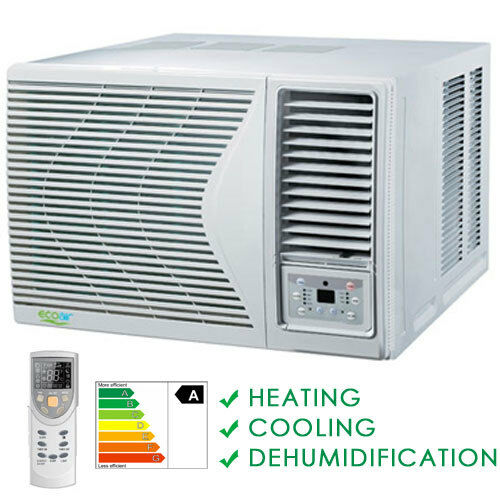 24000 btu window heat pump air conditioning unit heat for Window unit with heat