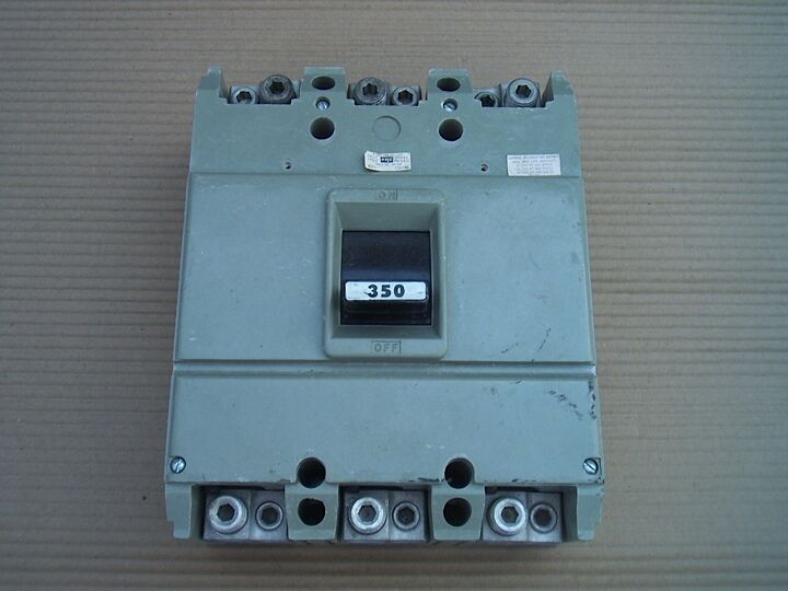 Fpe federal pacific hjl 350 amp hjl631350 3 pole circuit for Circuit breaker for 7 5 hp motor