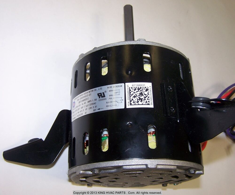 Goodman Bt1340031 1 3 Hp 2 Speed Blower Motor 1075 Rpm 208