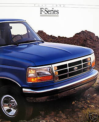 1992 ford f series pickup truck new vehicle brochure ebay. Black Bedroom Furniture Sets. Home Design Ideas