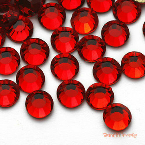 Red 1 6mm crystal glass bling flatback rhinestone for Rhinestone jewels for crafts