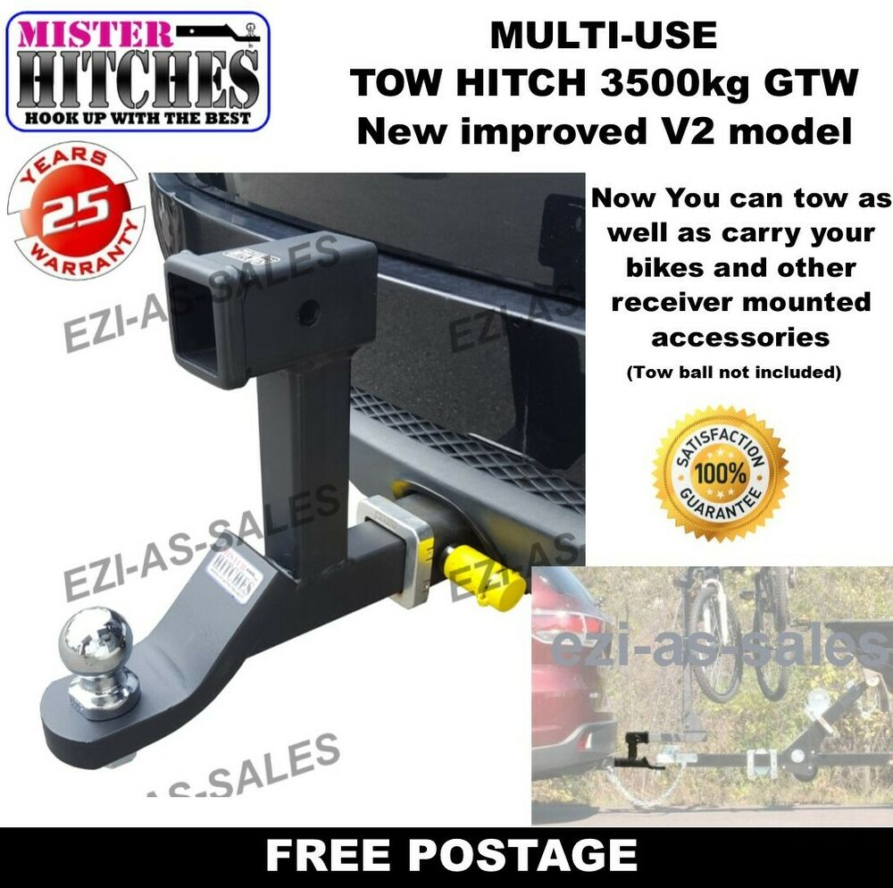 Types Of Trailer Hitches >> DUAL HITCH BALL MOUNT TONGUE MULTI USE TOW BAR TRAILER CAMPER BIKE RACK | eBay