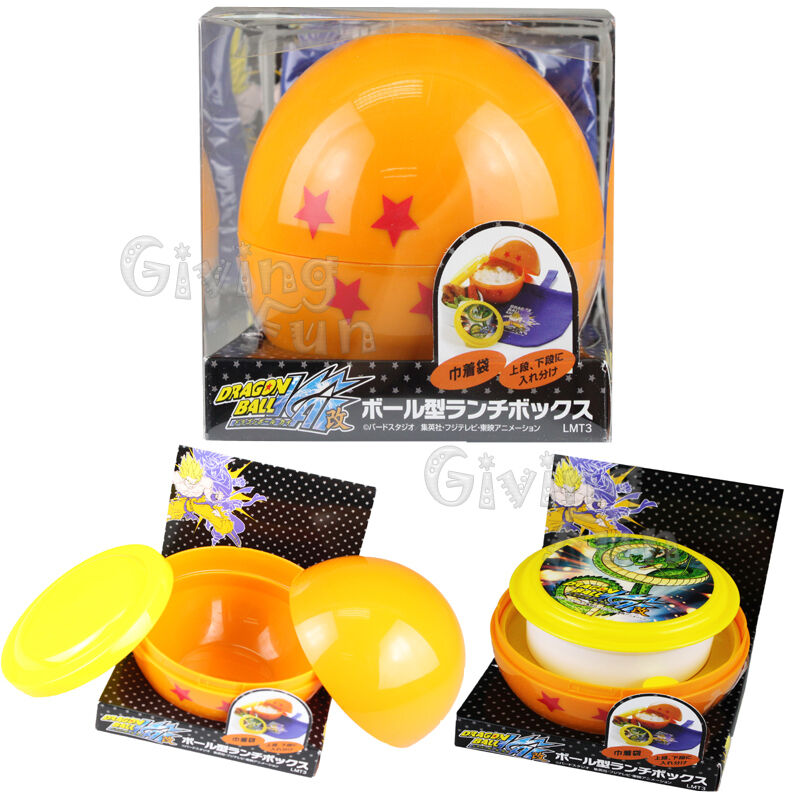 genuine dragonball z dbz kai star ball bento lunch box food container w bag ebay. Black Bedroom Furniture Sets. Home Design Ideas