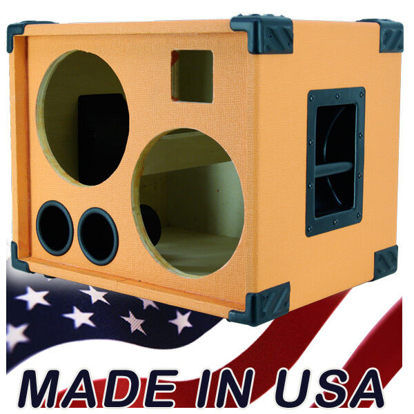 2x10 bass guitar speaker cabinet empty orange tolex bg2x10ht ebay. Black Bedroom Furniture Sets. Home Design Ideas