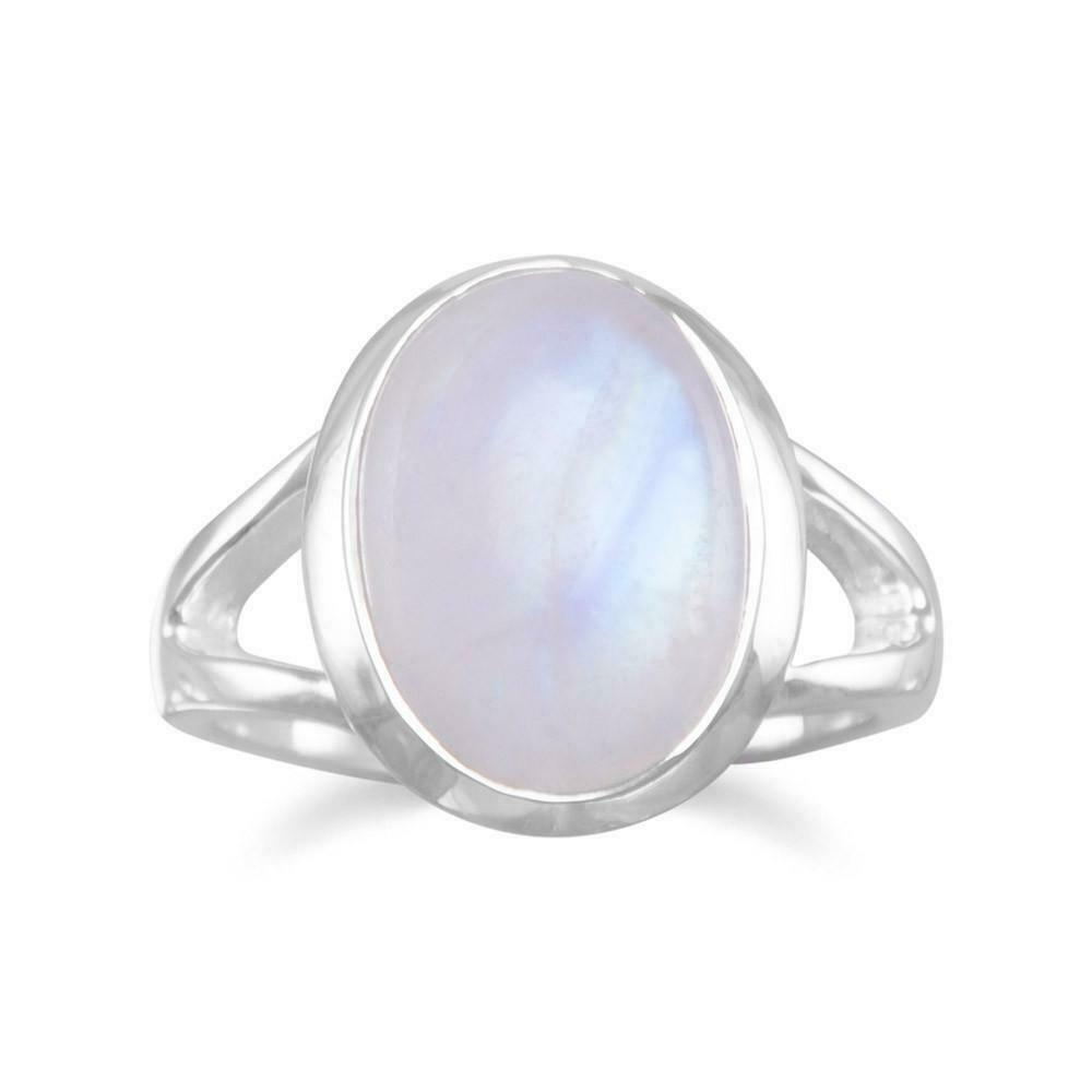 rainbow moonstone ring 925 sterling silver split band