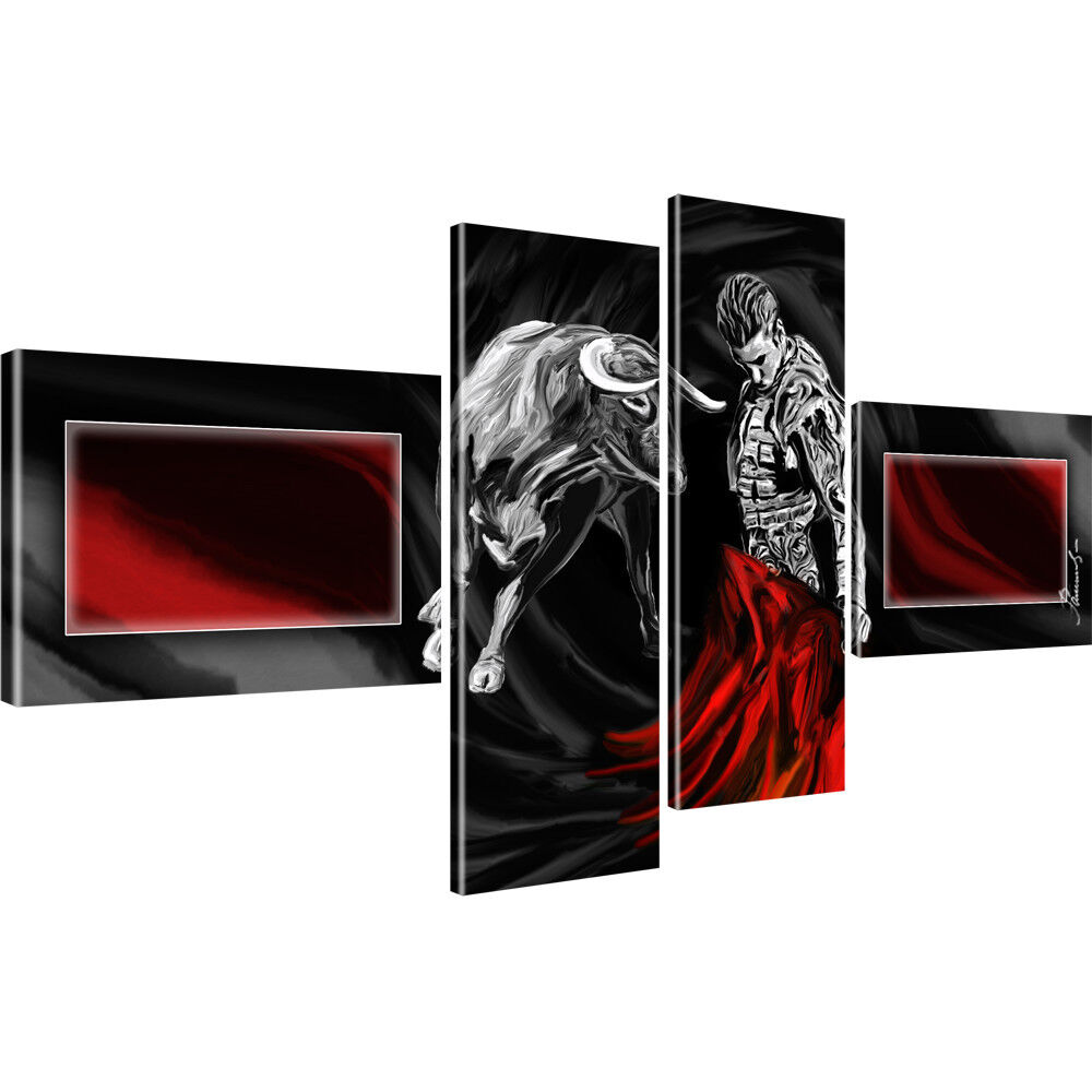 stier corrida stierkampf bilder auf leinwand digitalart ebay. Black Bedroom Furniture Sets. Home Design Ideas