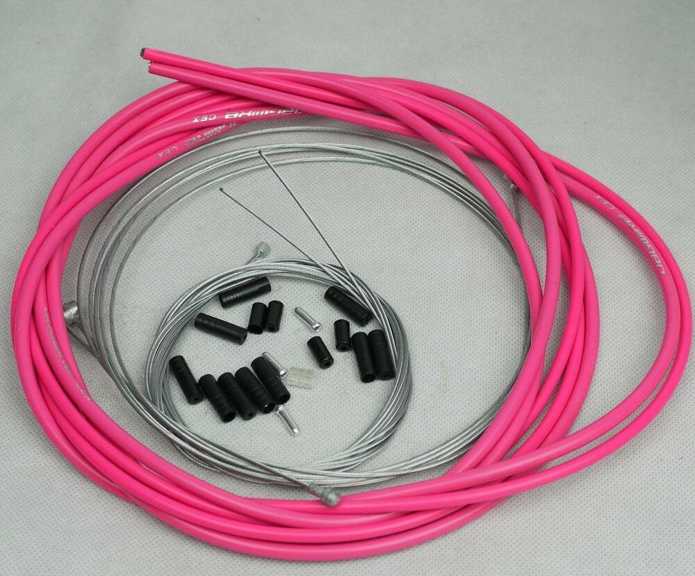 Jagwire Housing Cable Brake Shifter Complete Kit Hot Pink