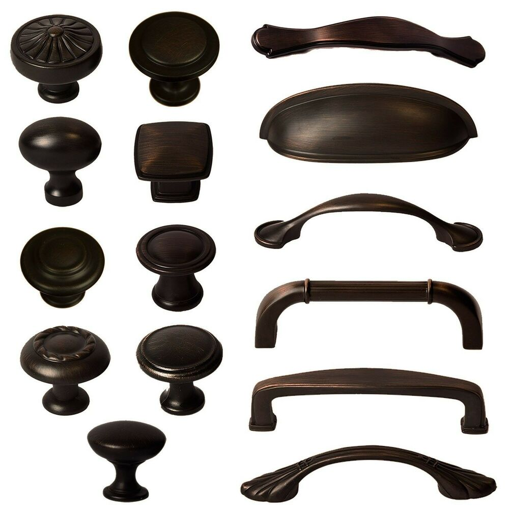 cabinet hardware knobs bin cup handles and pulls oil rubbed bronze ebay. Black Bedroom Furniture Sets. Home Design Ideas