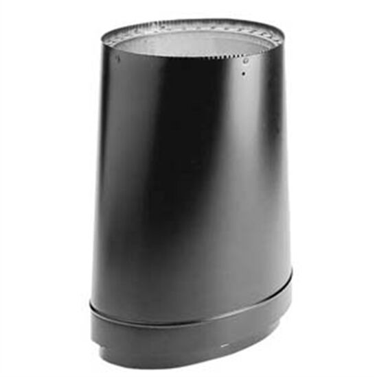 Wood stove pipe adapter oval