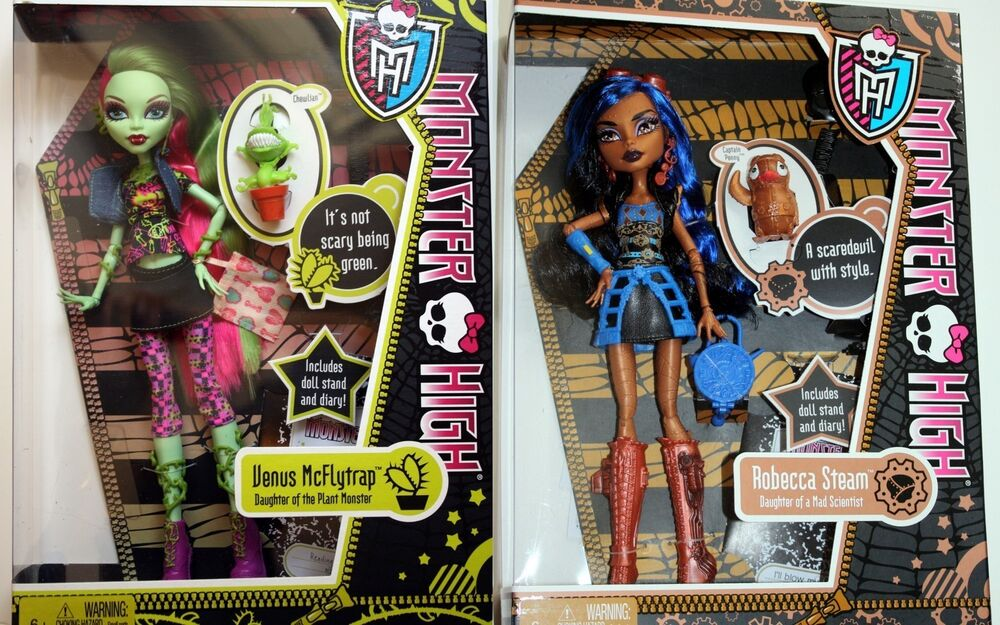 New monster high venus mcflytrap robecca steam dolls ebay - Monster high robecca steam ...