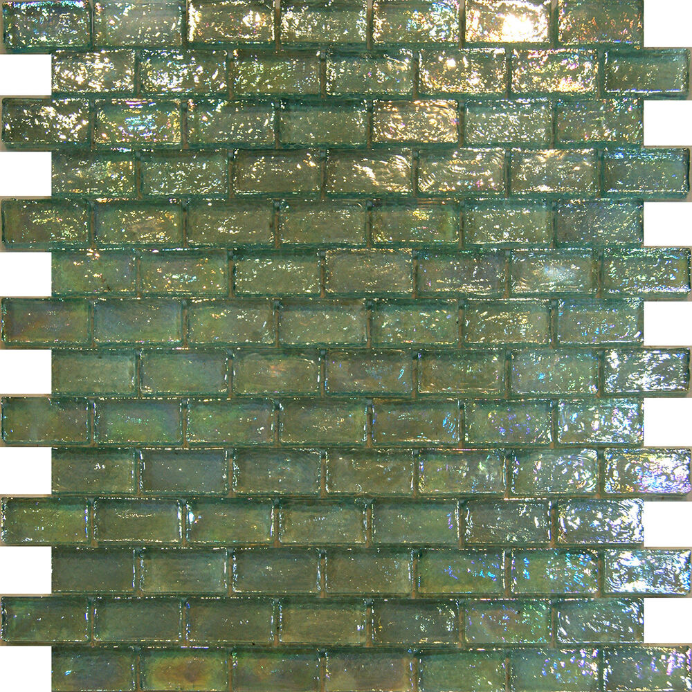 green kitchen tile sample mint green iridescent subway glass mosaic tile 1444