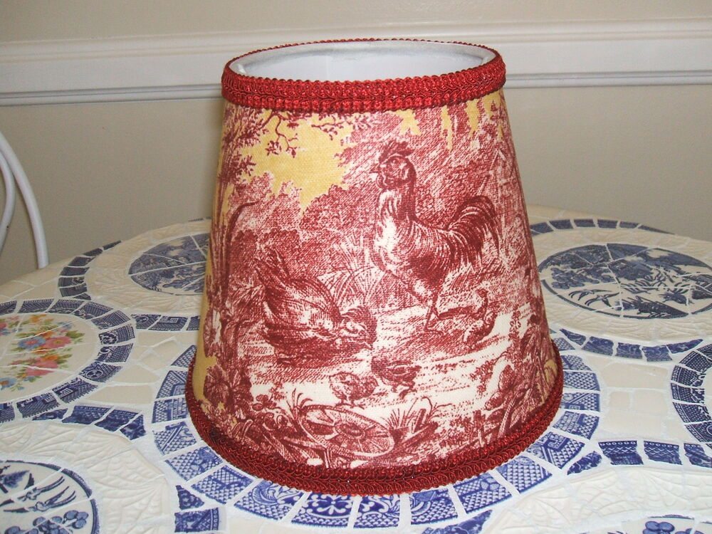 Waverly Red Gold Petite Ferme Rooster French Country Toile