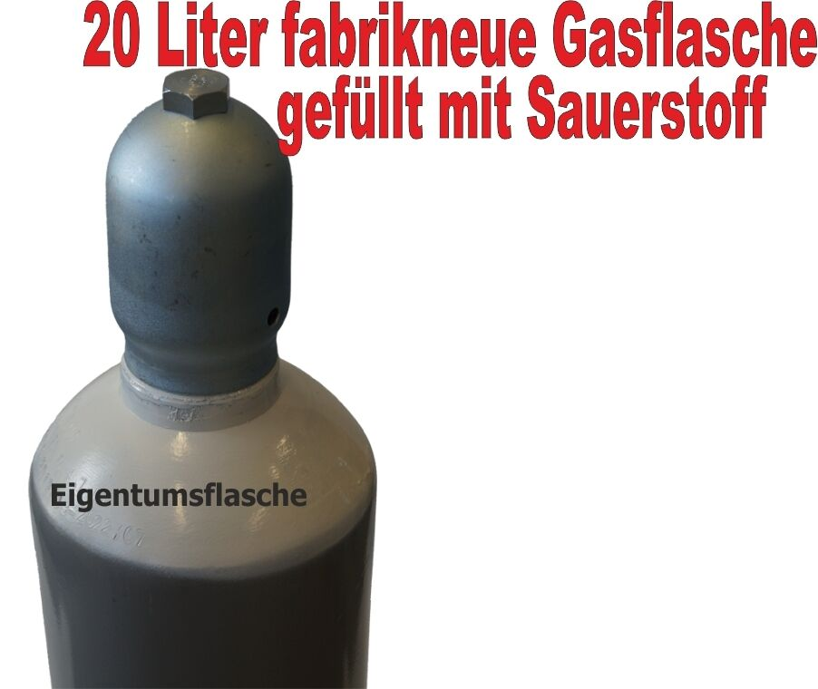 sauerstoffflasche 20 liter gasflasche schwei en und. Black Bedroom Furniture Sets. Home Design Ideas