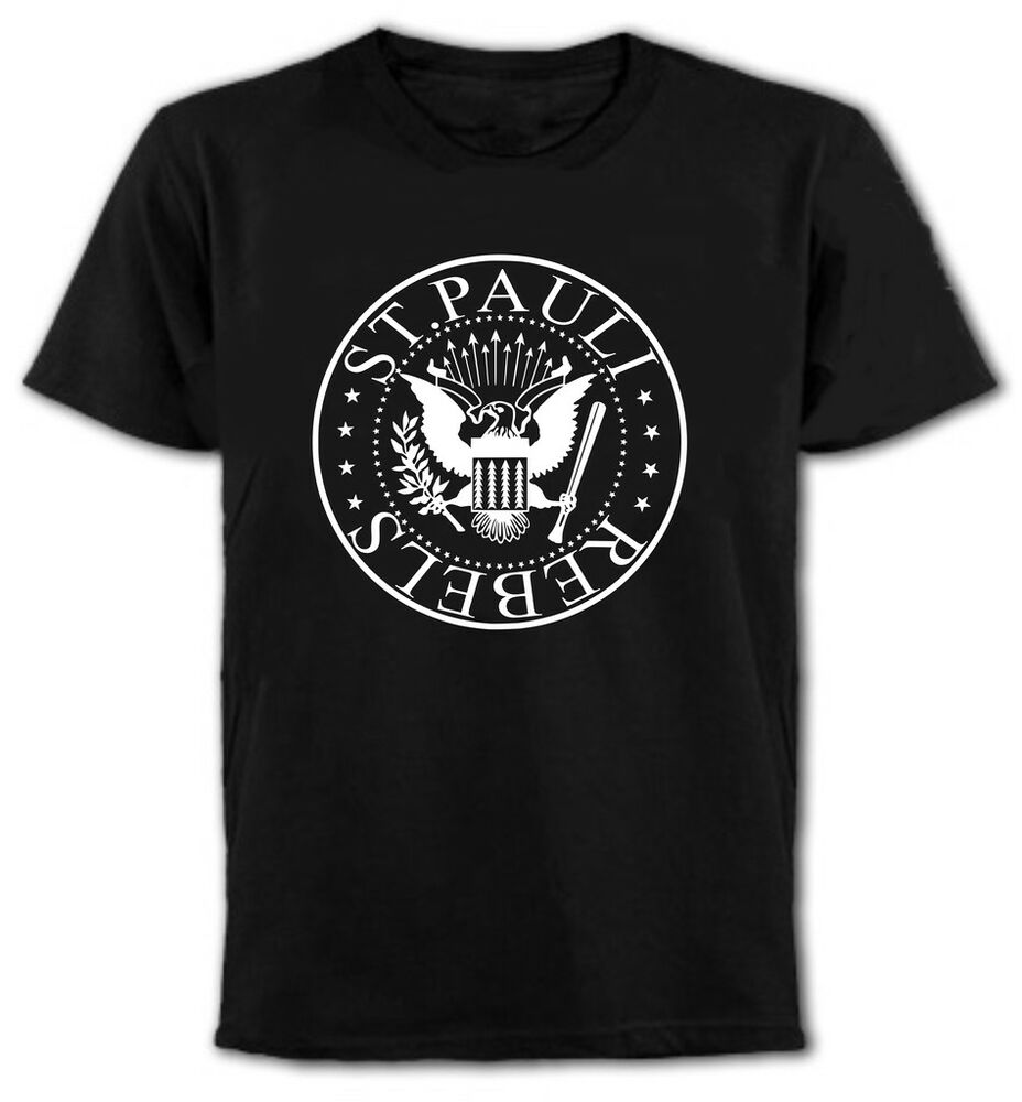st pauli rebels t shirt punk football ultras fans. Black Bedroom Furniture Sets. Home Design Ideas