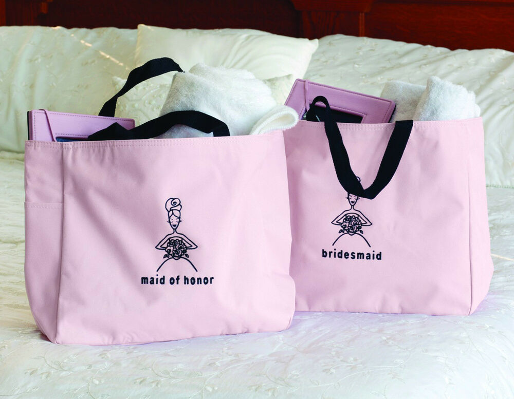 Bridal Party Pink Tote Bag Wedding Party Bridal Shower Gifts | eBay