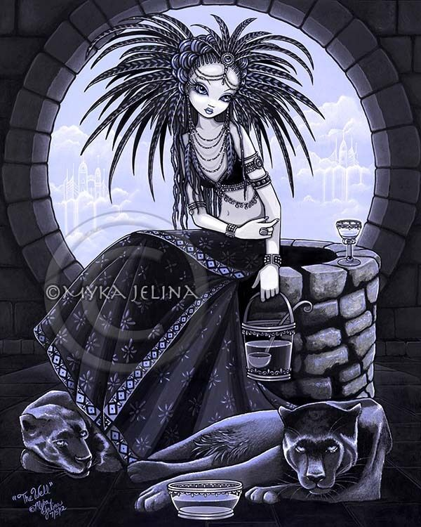 tribal fusion water well goddess cat fairy panther myka