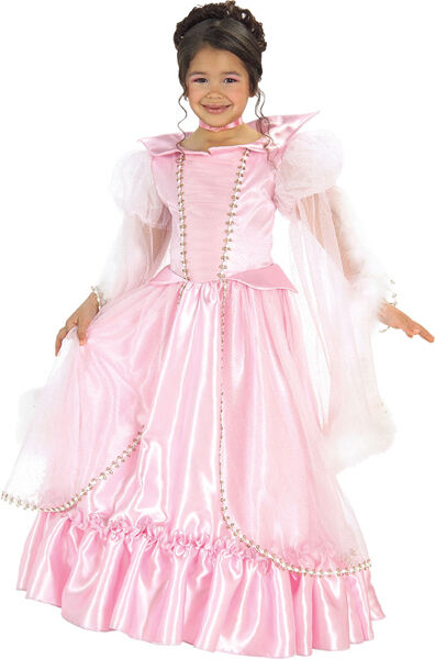 Sleeping beauty pink princess aurora dress up halloween deluxe child costume ebay Pink fashion and style pink dress