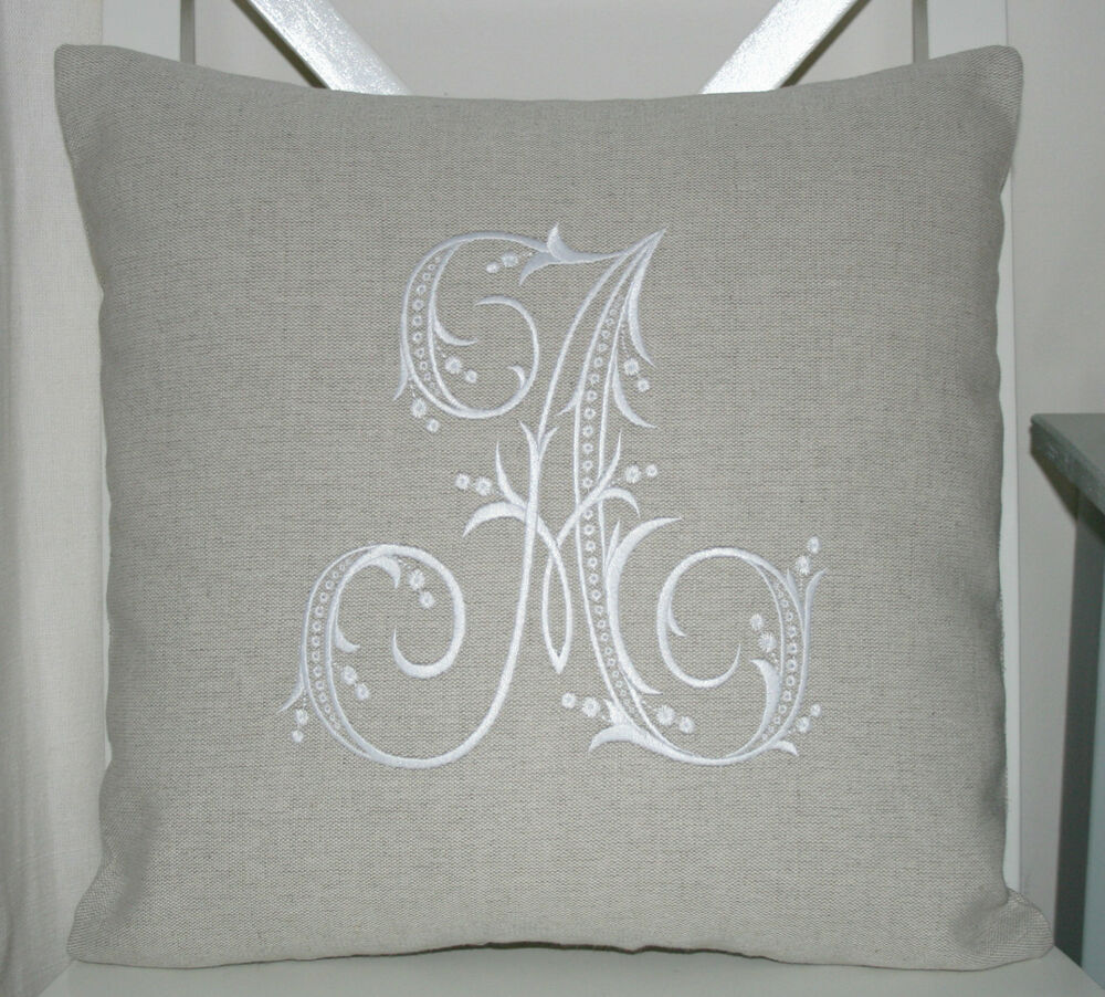 Laura ashley natural austin cushion cover with embroidered