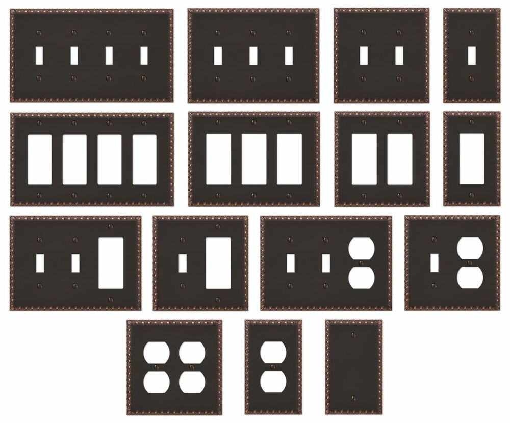 New Switch Plate Gfi Outlet Cover Rocker Toggle Wall Plate