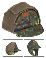 German Army Surplus Flectarn Winter Hat With Pull down ear flaps