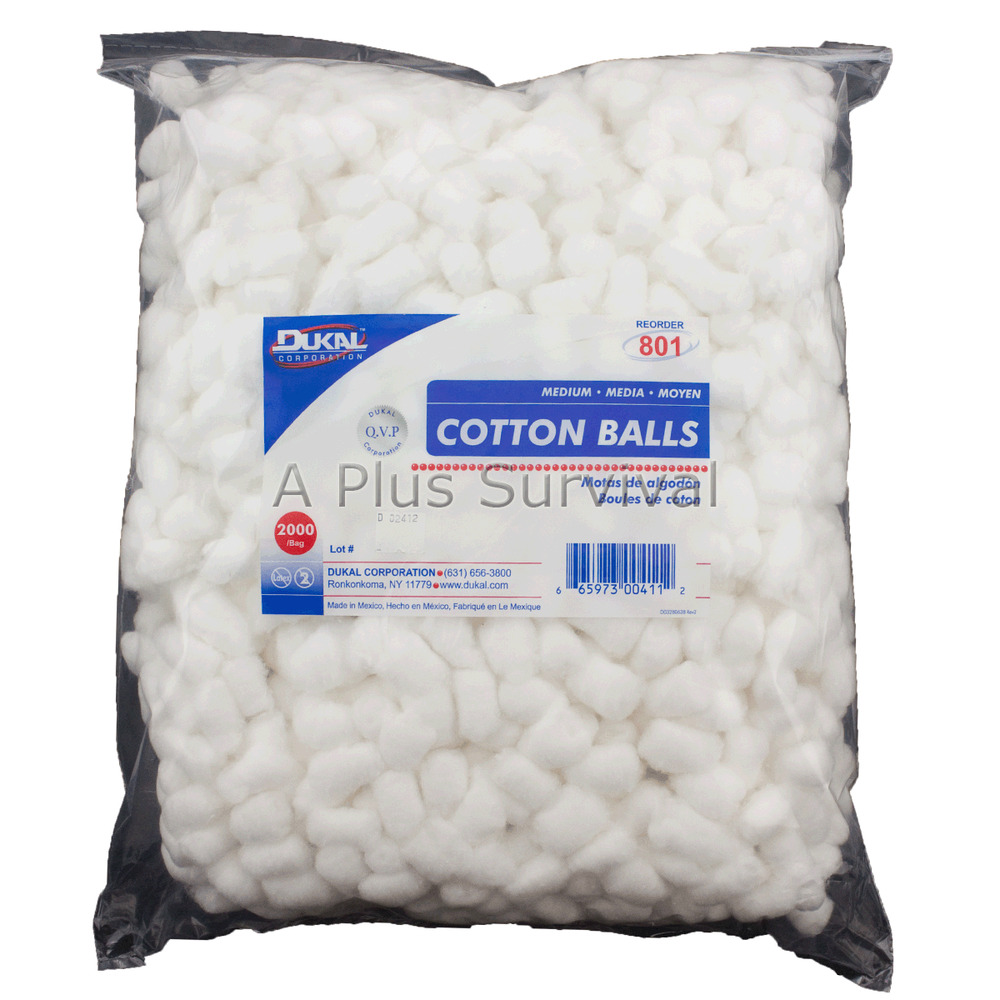 Bag of 4000 Cotton Balls for First Aid Hygiene Fire ...