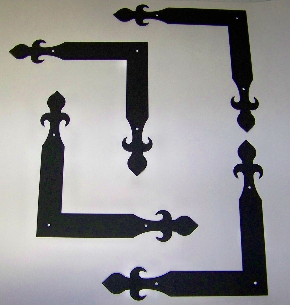 Carriage House Garage Door Corner Brackets Decorative