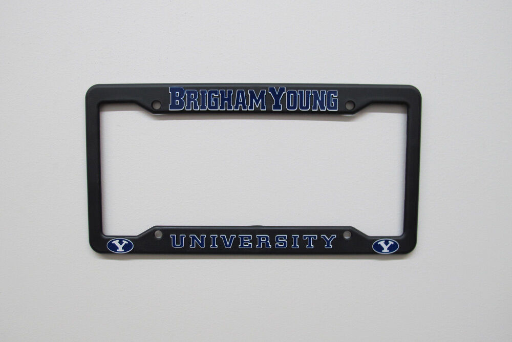 License Plate Frame Brigham Young University Ebay