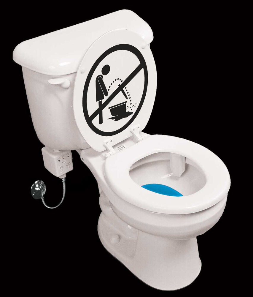 Keep toilet clean wall sign decal sticker highest quality for How to keep a toilet clean