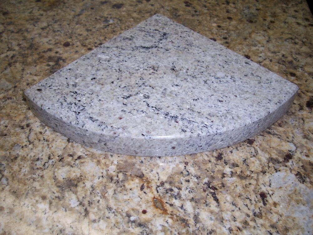 White Granite Stone : Quot cashmere white granite shower corner shelf caddy cm