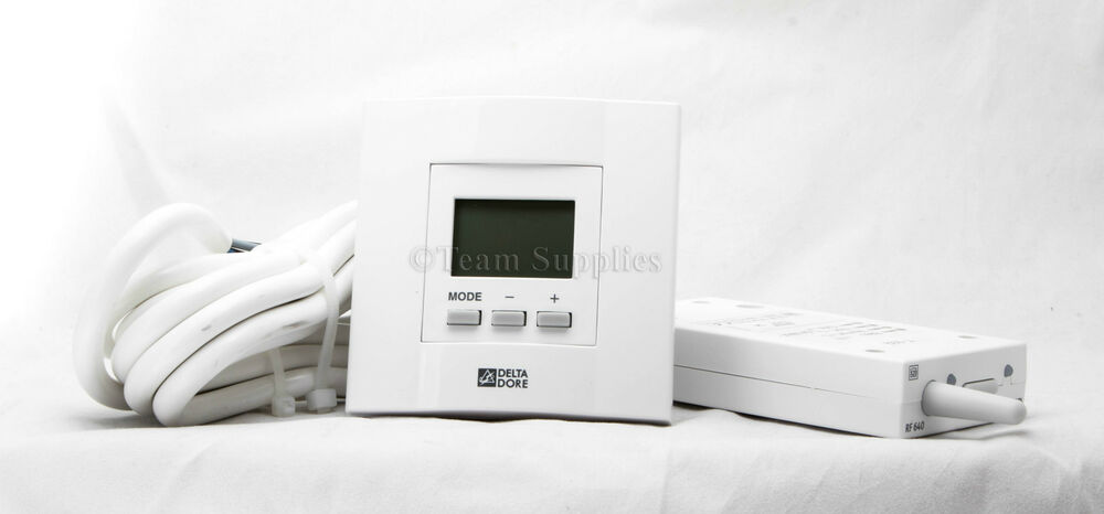 delta dore d10rf digital room stat wireless thermostat heating control tybox 23 ebay. Black Bedroom Furniture Sets. Home Design Ideas