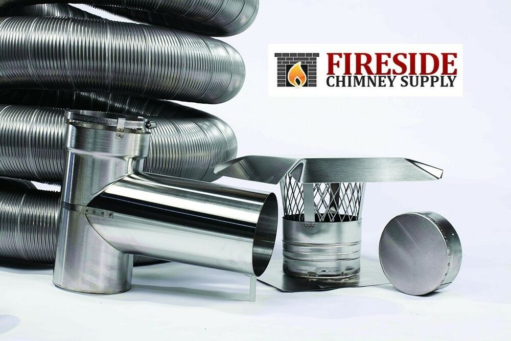 6 Quot X 20 316ti Stainless Steel Flexible Chimney Liner Tee