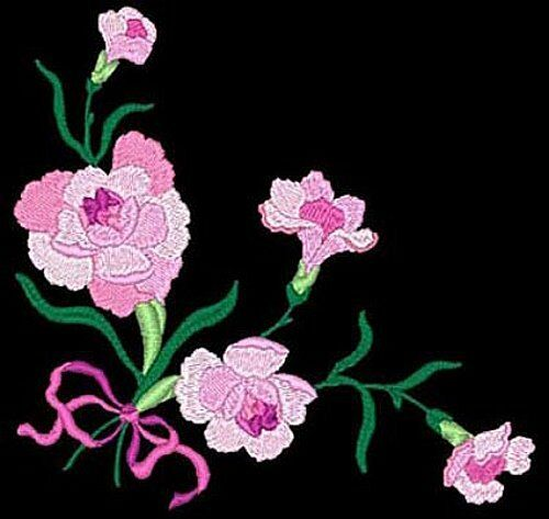 Floral corners daisy designs machine embroidery